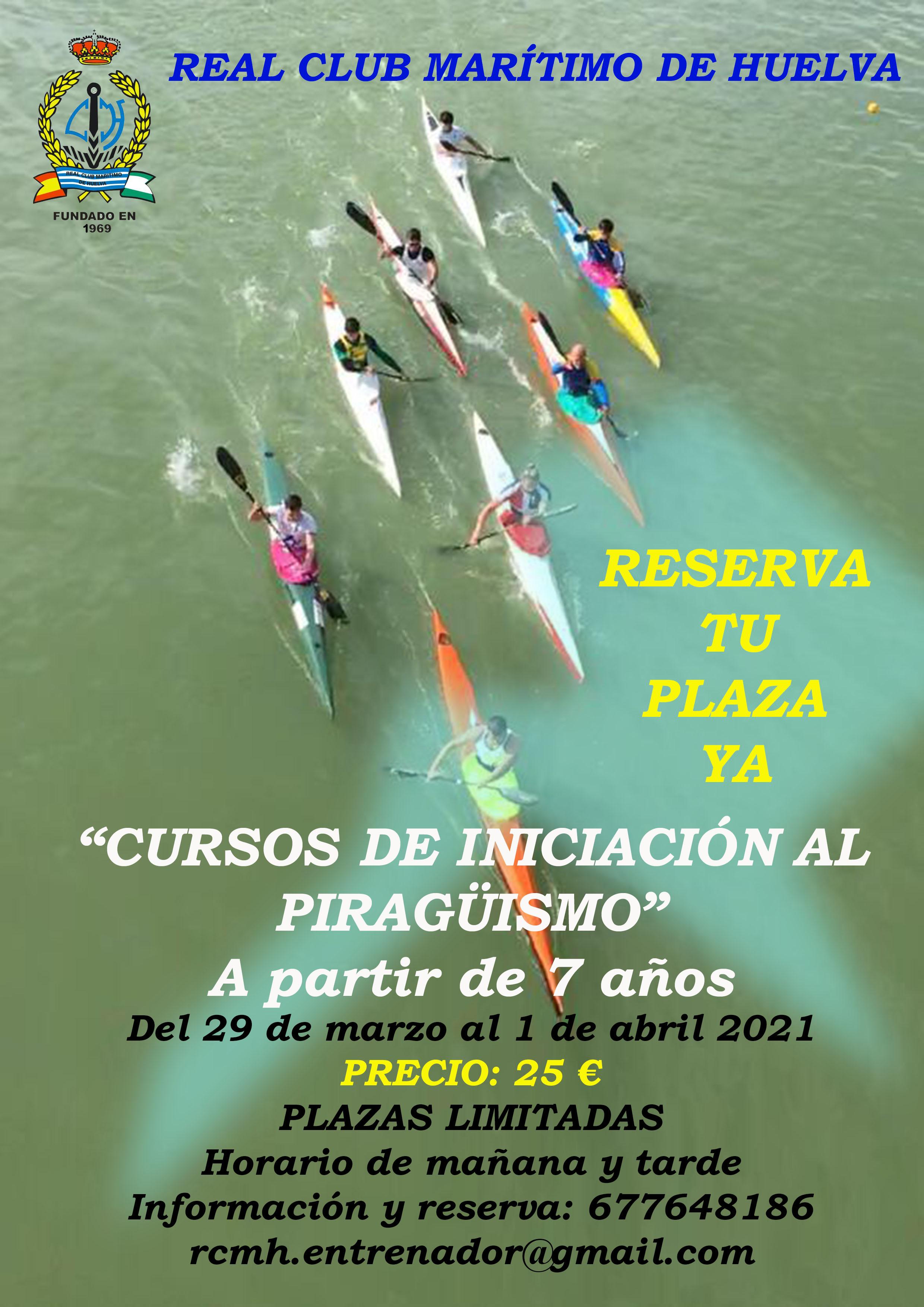 Cursos iniciación al piragüismo 2021